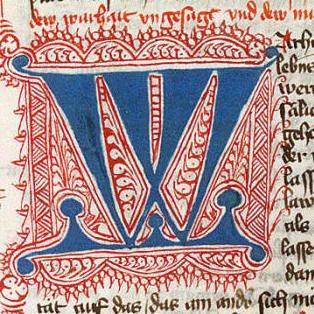 Image result for medieval manuscript letter w